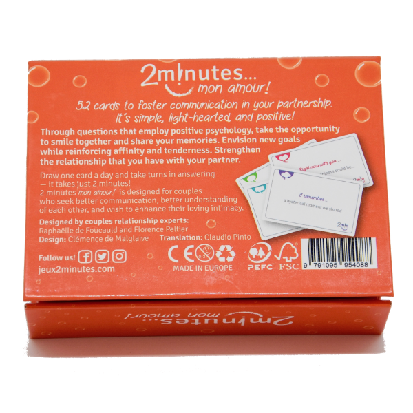 2 minutes mon amour english cards